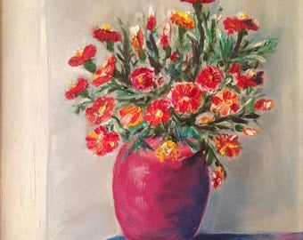 Marigolds in a pot. Free shipping!