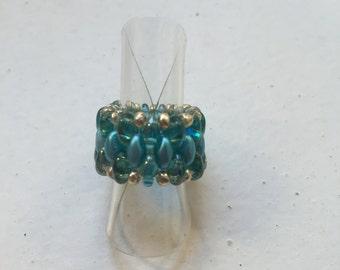Ring Aqua blue
