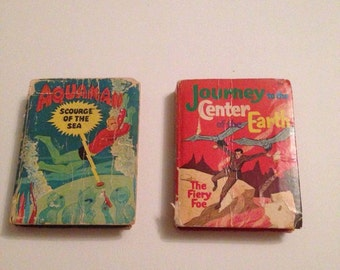 "Lot of two Big Little Books: 1968 Aquaman ""Scourge of the Sea"" and 1968 Journey to the Center of the Earth ""The Fiery Foe"""