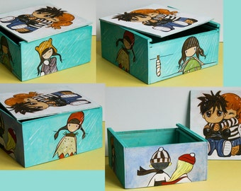 Painted WoodBox for Accessories