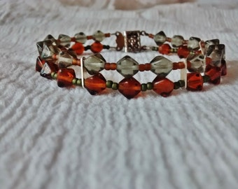 7 1/4 inch glass beaded bracelet.