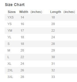 Unisex Shirt Size Chart By Mainstreetteesstore On Etsy