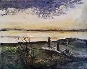 Yellow Sky - Lake Bolac