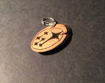 Wood Burn Keychain: Subaru