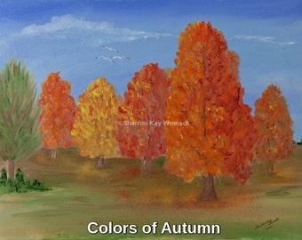 Autumn Colors (8x10, Enhanced Oil Painted Print)