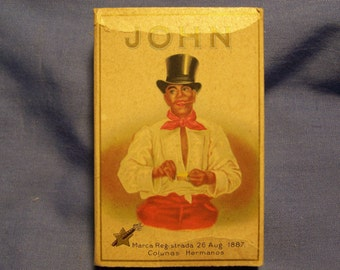 Vintage Original 1930's John Cigarros Box