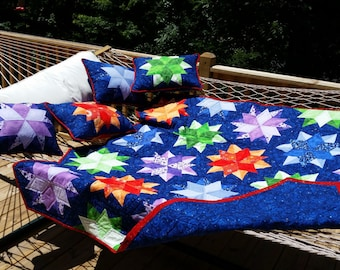 Night Sky Lap Quilt with Pillows