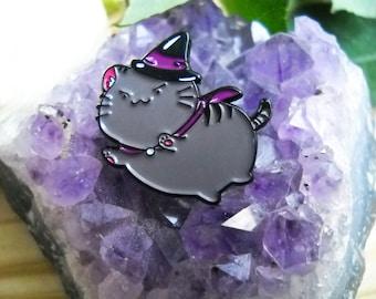 Witch Cat Enamel Pin