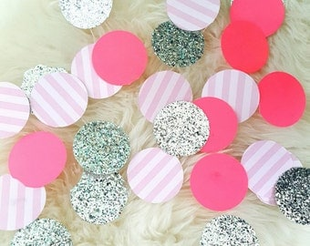 """HUGE 2"""" Confetti, Baby Shower, Baby Girl, Victoria Secret,  Bachelorette, Table Decor, Parties, Birthdays, 30 ct. Ready to Ship!"""