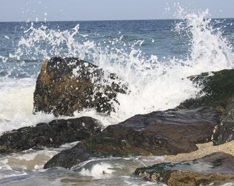 The Wave...... Beach,  Water,  Nature,  Blue  ,Original,  Handmade,  Ocean, Sand
