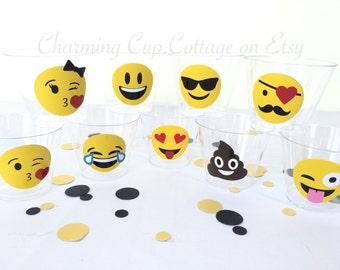 Emoji Party Cups/Emoji Birthday/Emoji Cups/Emoji Party/Emoji Theme Party/Emoji Party Theme/Emojis/Emoji Birthday Party