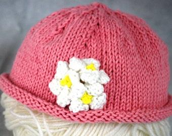 Newborn Baby Flower Beanie Hat