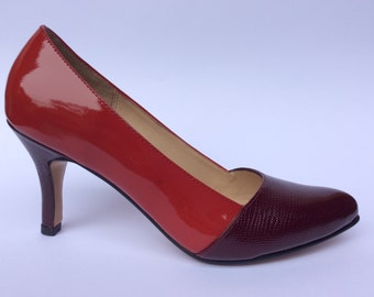 Executive pumps shoes in leather handmade