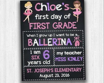 First Day Of First Grade, Back To School Signs, Grade School Signs, Chalkboard Signs, School Signs, 1st Day Of School, Dance School Signs
