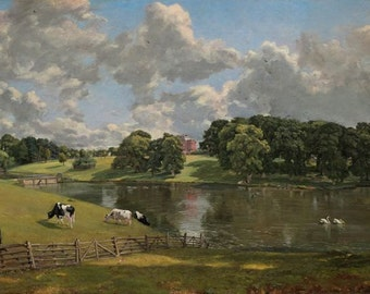 Wivenhoe Park John Constable Picture Painting Poster Fine Art Re-Print A3 A4