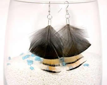 Earrings feather 'butterfly'