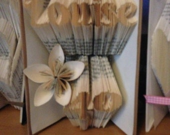 Personalised book folding