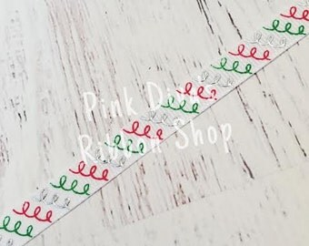 3/8 Doodle Swirls Ribbon - US Designer Ribbon - Christmas Ribbon