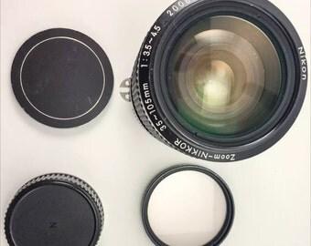 Vintage Nikon 36-105mm 1:35-45 NIKKOR Zoom Lens