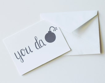 You Da Bomb Thank You Cards (pack of 10)