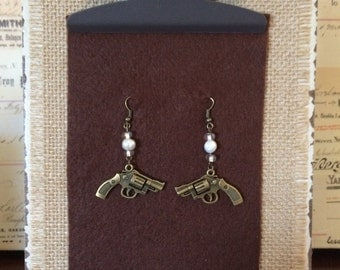 For the girl who loves her pearls AND her guns!