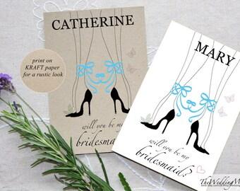 Will You Be My Bridesmaid Card, Bridesmaid Proposal Card, Bridesmaid Request Card, Be My Bridesmaid Gift, Wedding Card Bridesmaid