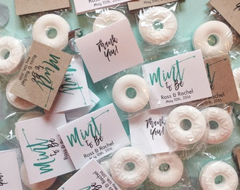 Mint to Be Wedding Favors / Custom Mint Favors / Wedding Favors / White / Mint (150)