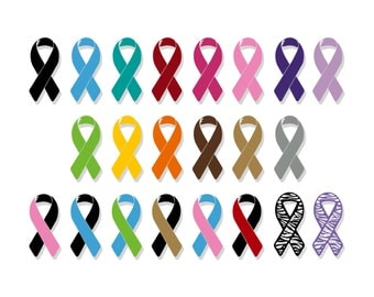 Support Ribbon | Support Ribbon Decal | Support Ribbon Sticker | Support Ribbon Vinyl | Awareness Ribbon | Awareness Decal | Vinyl Decal