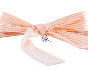 VABIEN Bow Tie Orange/White Cotton
