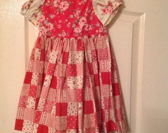 Girls' 100% cotton dress, age 2 - 3 years