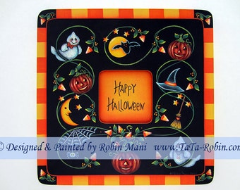 227 Candy Corn Vines Frame Decorative Painting Pattern
