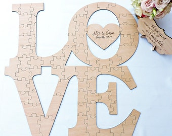 LOVE Wedding Guest Book Alternative Puzzle