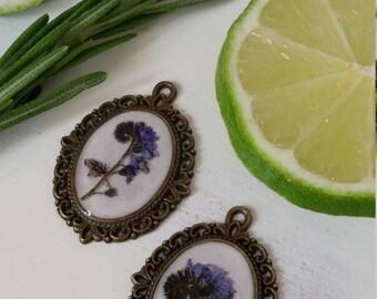 Vintage wildflower pendant