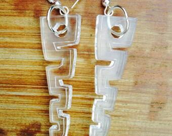 Clear acrylic drop earrings