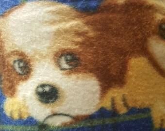 Dogs Print Fleece Fabric by the yard