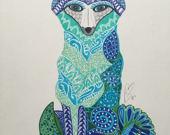 "Zentangle Fox - ""Mac a'tSionnaigh (Vulpes)"""