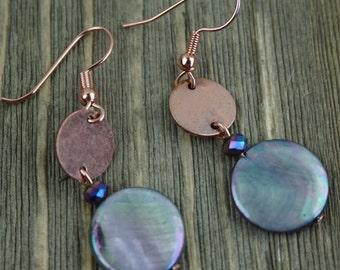 Copper Shell Earring