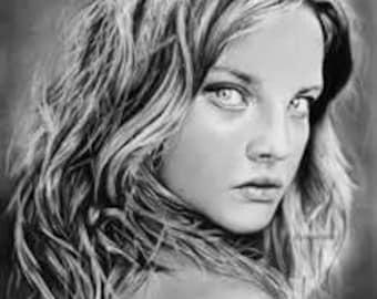 beuatiful girl sketch