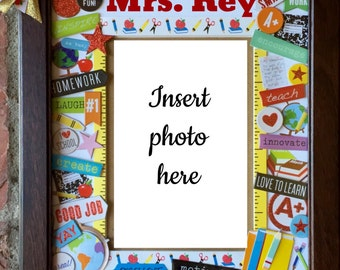 Personalized Teacher School Picture Frame