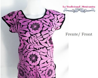 Mexican Blouse: Pink Rosewood. Ready to send.