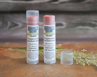 Peppermint Sandalwood ~ Tinted Lip Balm