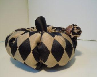 Pumpkin - (53)  Black & Gold Harlequin Pumpkin, Acorn  Fall/Autumn/Halloween Decorations, Handmade,  Bright Happy Pumpkins