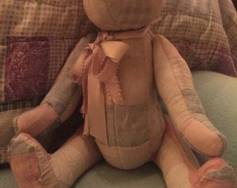 Vintage Quilt Handmade Teddy Bear