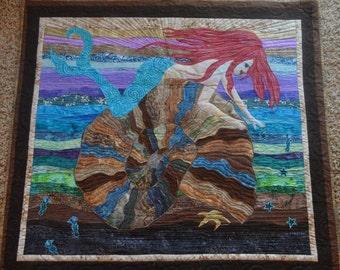 The Handmade Mermaid quilt pattern by MinnesewtanDesign