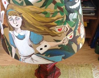 Alice in Wonderland lamp shade