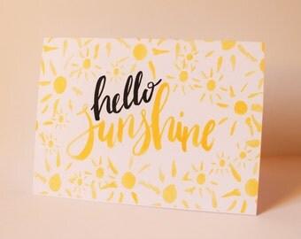 Hello Sunshine - Greetings Card - Sunshine