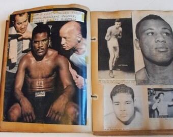 Vtg Boxing and Wrestling Scrapbook Filled 1920-1950's  (222)