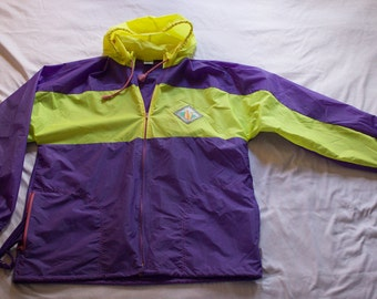 Vintage RARE 80s TABOU Surf Sun & Snow zipup windbreaker packable RARE