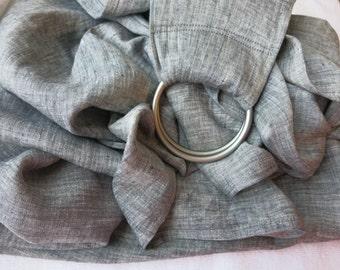 Summer Ring Sling / Pure Linen Baby Ring Sling/Gray rings sling