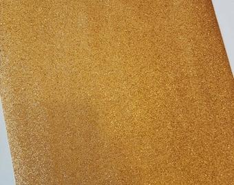 A4 sheet of copper fine glitter